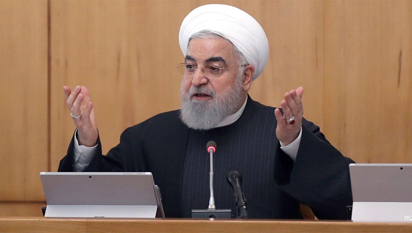 Prezydent Iranu Hassan Rouhani (fot. PAP/EPA/IRANIAN PRESIDENTIAL OFFICE HANDOUT)