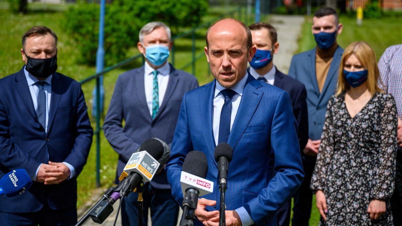 Przewodniczący PO Borys Budka (fot. PAP/Paweł Topolski)
