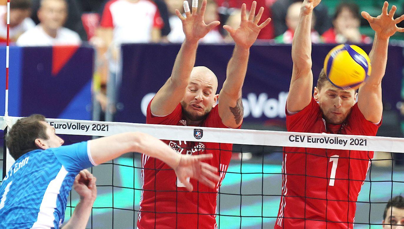 Polska przegrała ze Słowenią 1:3 (fot. PAP/Andrzej Grygiel)