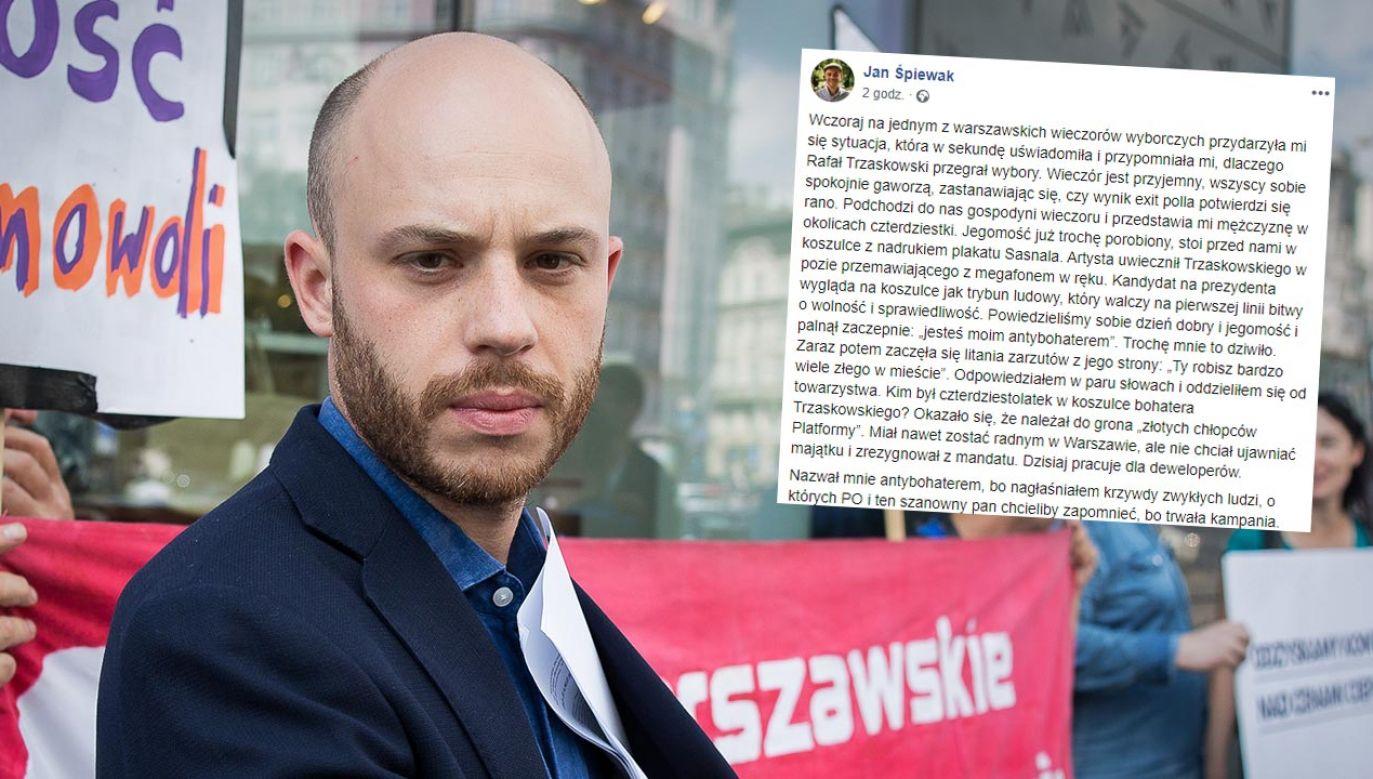 """""""Oni ciągle nic nie rozumieją"""" – ocenił stołeczny aktywista (fot. Mateusz Wlodarczyk/NurPhoto via Getty Images)"""