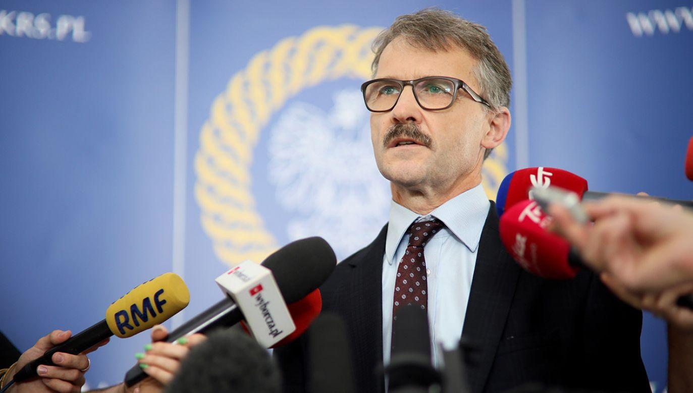 Sędzia Leszek Mazur, przewodniczący Krajowej Rady Sądownictwa (fot. arch. PAP/Leszek Szymański)