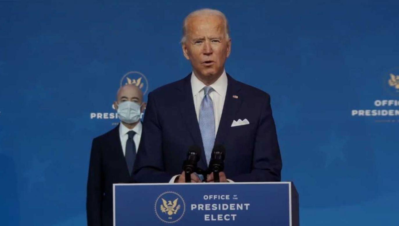 Joe Biden szykuje się do objęcia funkcji prezydenta (fot. PAP/EPA/OFFICE OF THE PRESIDENT ELECT / HANDOUT)