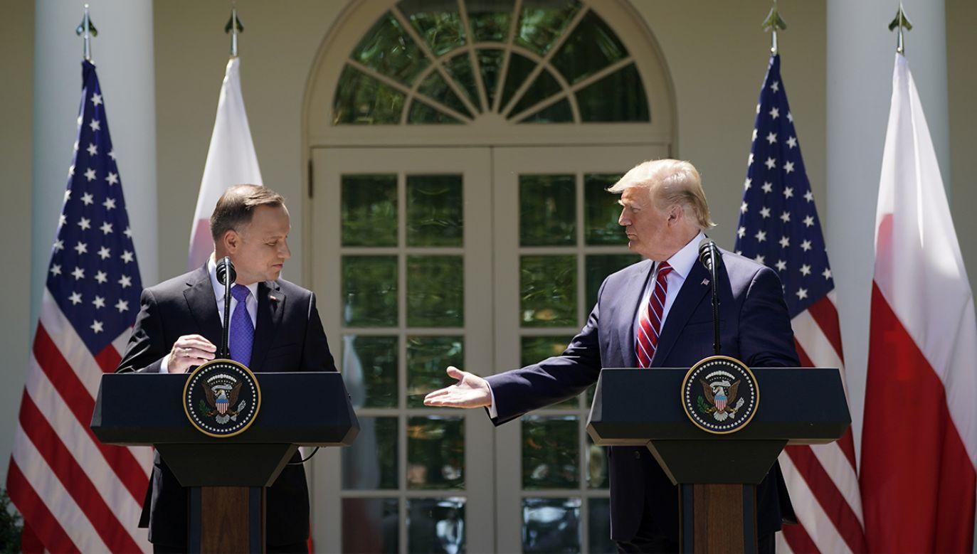 Prezydenci Duda i Trump w przyszłym tygodniu spotkają dwa razy (fot. REUTERS/Kevin Lamarque)