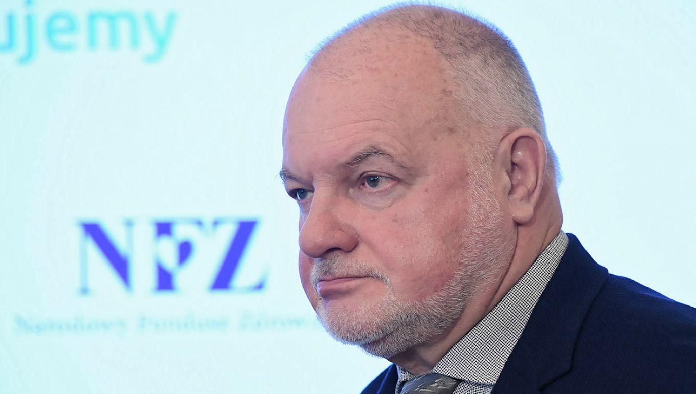 Andrzej Jacyna był prezesem NFZ od 2018 roku (fot. arch.PAP/Radek Pietruszka)