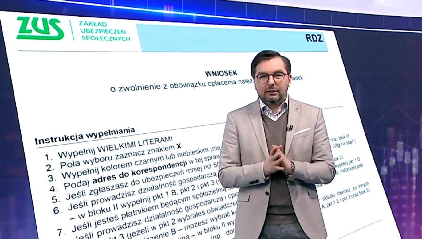 Nowe zasady wyjaśnia Paweł Blajer (fot. TVP Info)