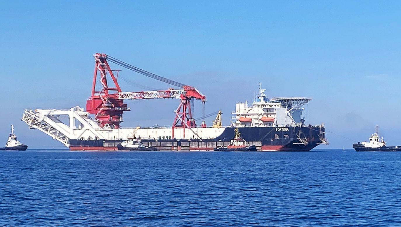 Prace na dnie Morza Bałtyckiego zostały wstrzymane pod koniec 2019  (fot. REUTERS/Oliver Denzer)