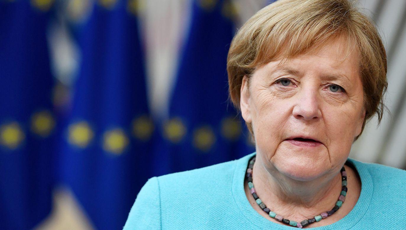Angela Merkel broni swojej propozycji ws. rozmów z Rosją(fot. PAP/EPA/JOHN THYS / POOL)