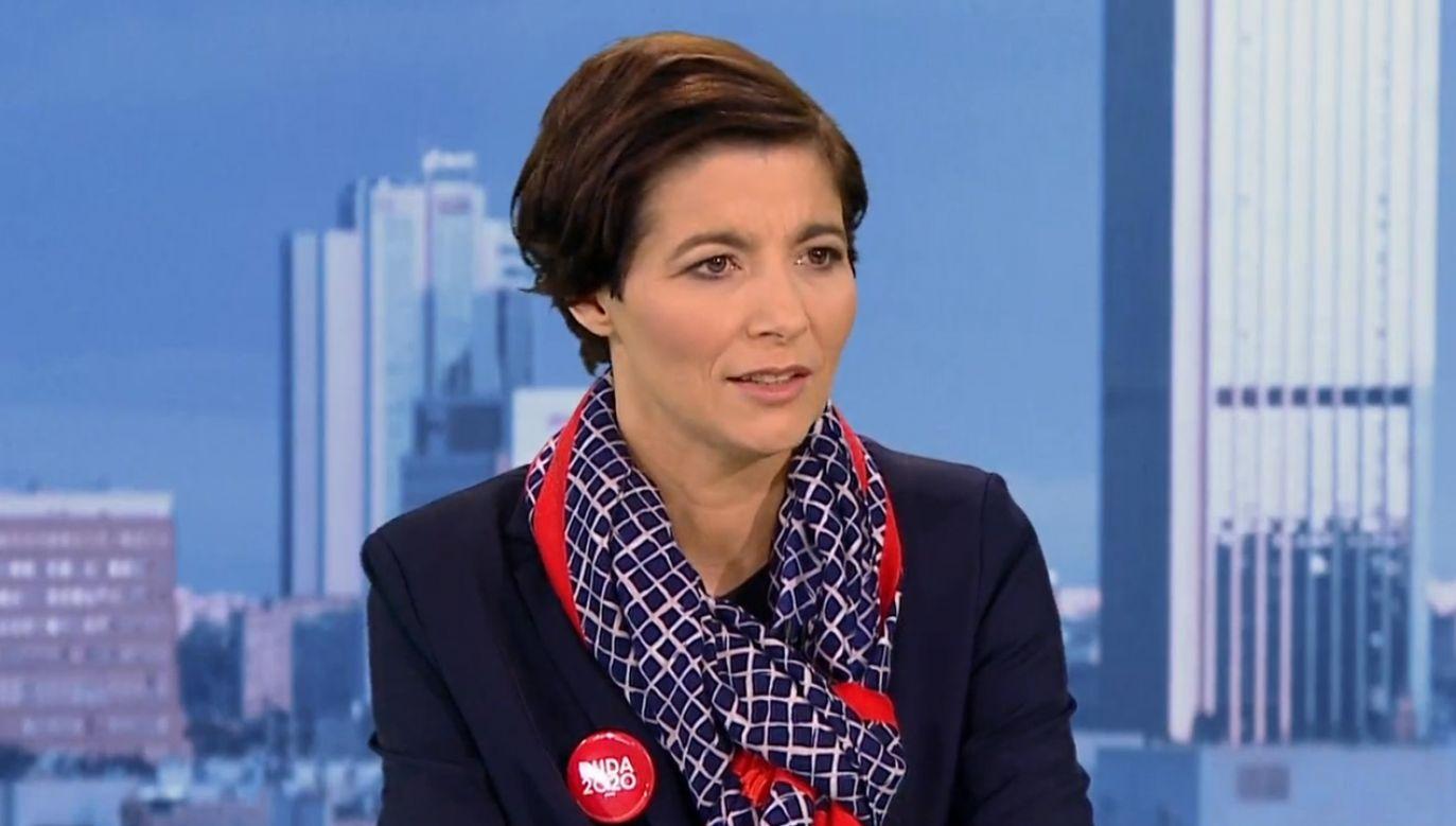 Jolanta Turczynowicz-Kieryłło odniosła się sprawy wydatkowania pieniędzy z budżetu na onkologię (fot. TVP1)
