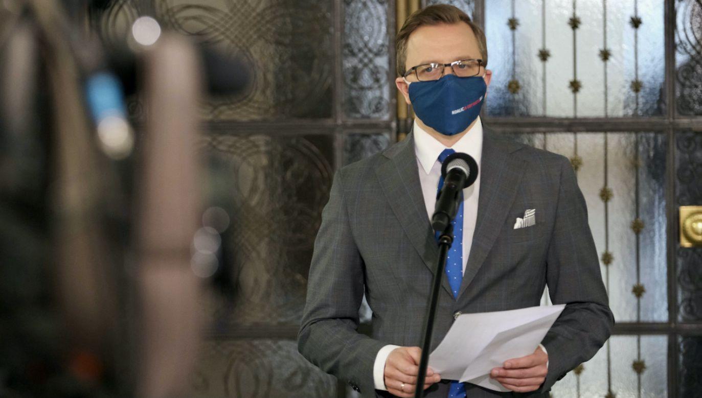 Joński zasugerował wspólne listy KO i Hołowni (fot. PAP/Mateusz Marek)