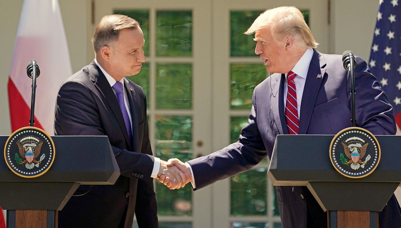 """O spotkaniu Duda-Trump Szczerski był pytany w radiowej """"Jedynce"""" (fot. REUTERS/Kevin Lamarque)"""