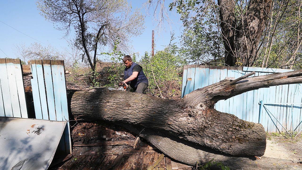 Wicher uszkodził ponad 60 domów i powalił dziesiątki drzew (fot. Vladimir Smirnov\TASS via Getty Images)