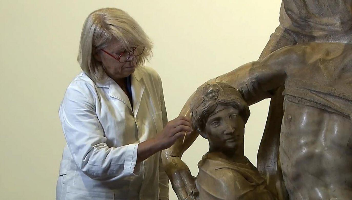Renowacja Piety Florenckiej została wznowiona i będzie dostępna dla odwiedzających (fot. RAI)