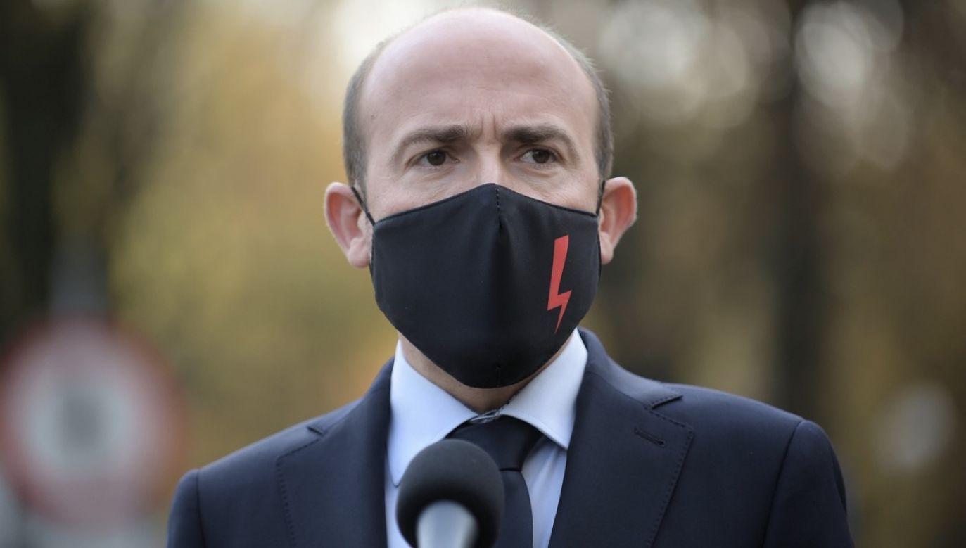 Przewodniczący PO Borys Budka (fot. PAP/Marcin Obara)