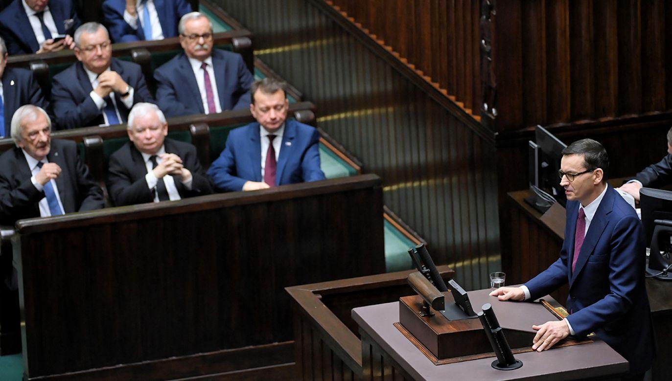 Premier Mateusz Morawiecki złożył dymisję rządu (fot.  PAP/Radek Pietruszka)