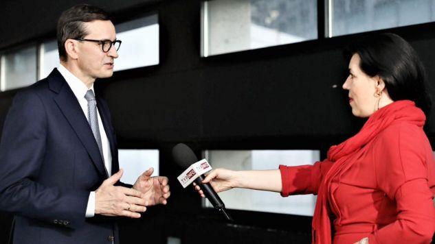 Premier Mateusz Morawiecki po debacie w PE (fot. TT/Kancelaria Premiera)