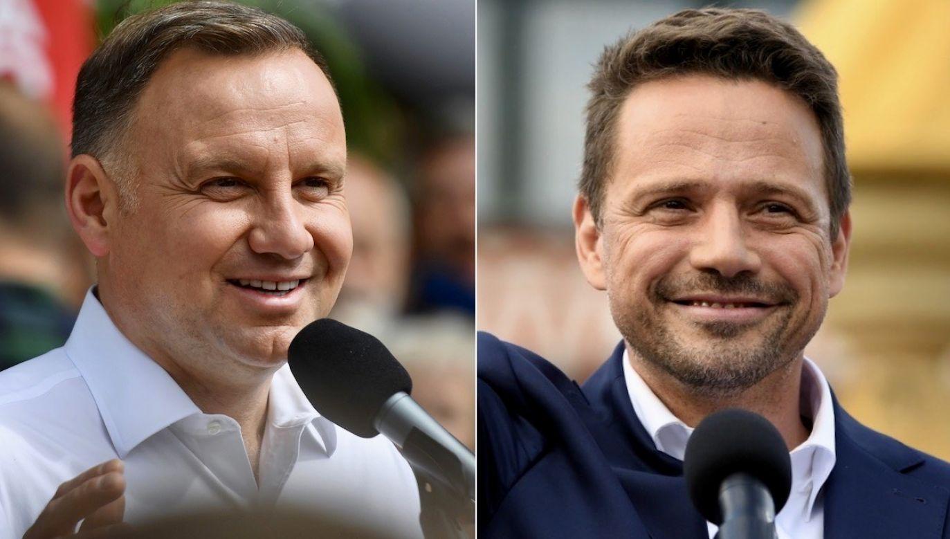 Andrzej Duda i Rafał Trzaskowski zmierzą się w II turze wyborów prezydenckich (fot. PAP/Marcin Bielecki/PAP/Adam Warżawa)