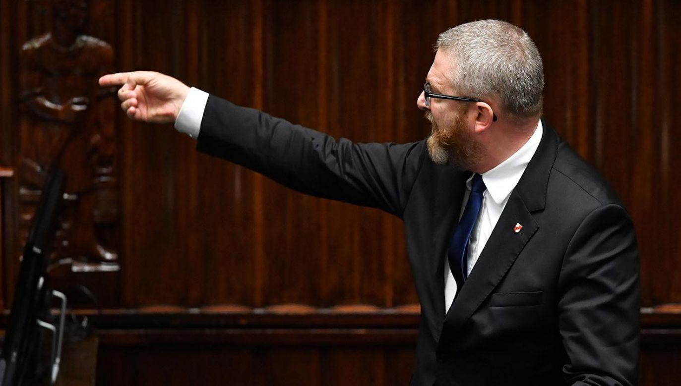 Grzegorz Braun (fot. PAP/Radek Pietruszka)
