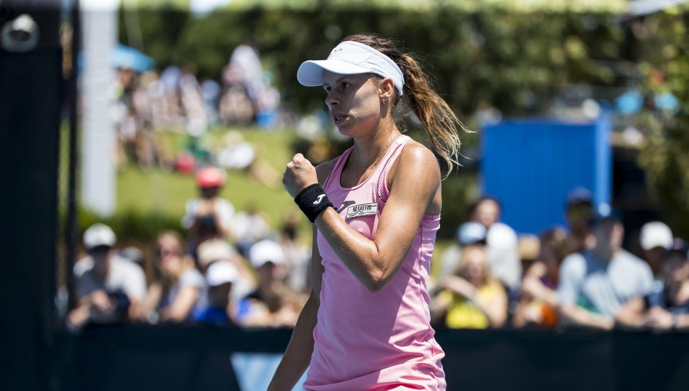 Magda Linette wygrała pierwszy mecz turnieju WTA w Lexington (fot. Getty)