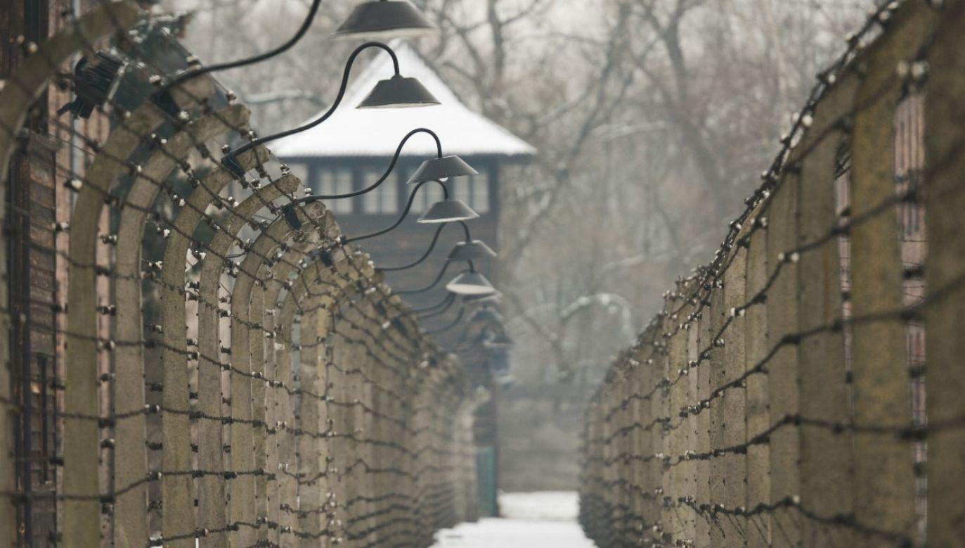 IPN przygotował specjalną prezentację z okazji rocznicy wyzwolenia obozu (fot. Artur Widak/NurPhoto via Getty Images)