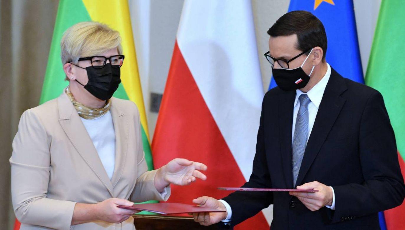 Zapewniła, że Litwa i Polska będą mówić jednym głosem na forum UE (fot. PAP/Radek Pietruszka)