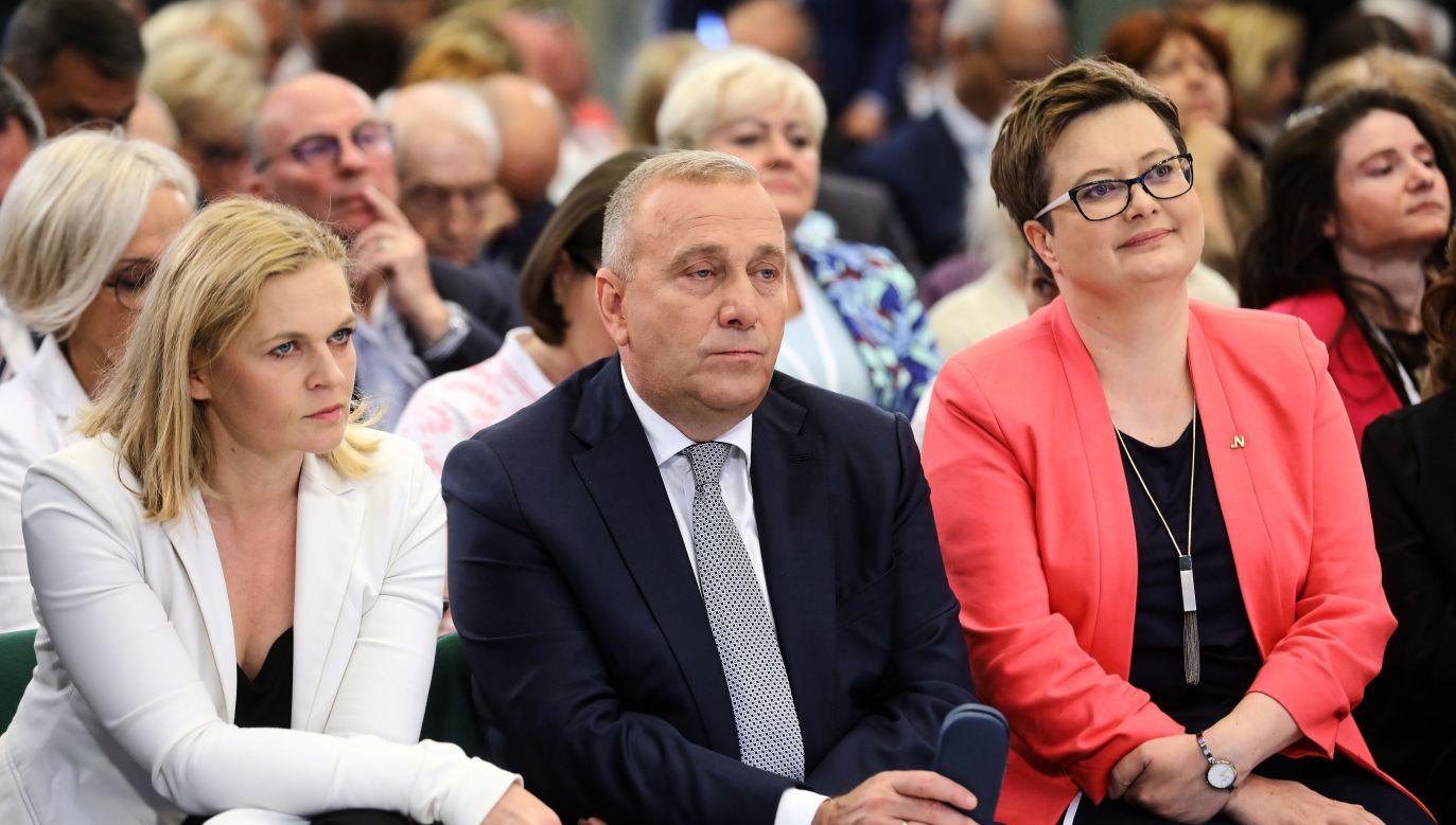 Politycy PO-KO podczas drugiego dnia Forum Programowego Koalicji Obywatelskie(fot. PAP/Rafał Guz)