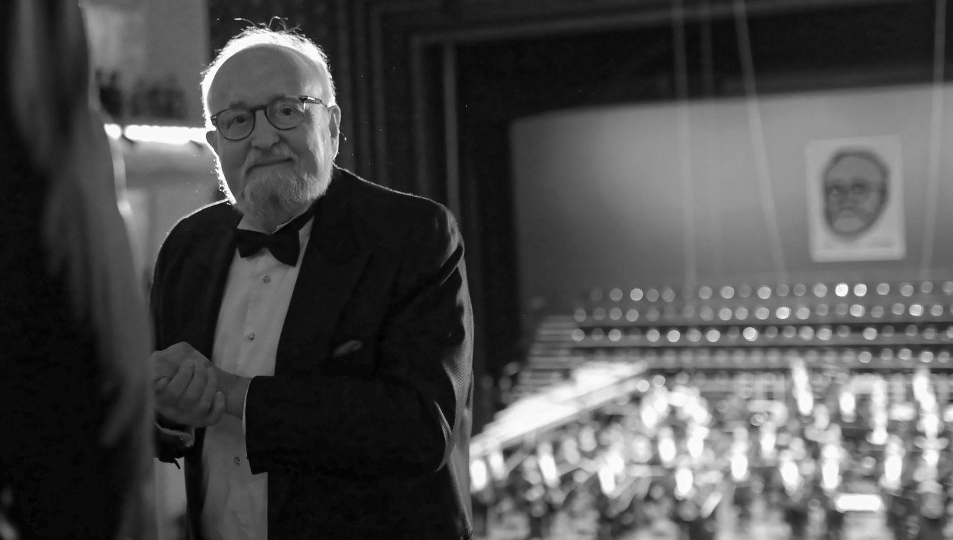 Krzysztof Penderecki miał 86 lat (fot. arch. PAP/Leszek Szymański)