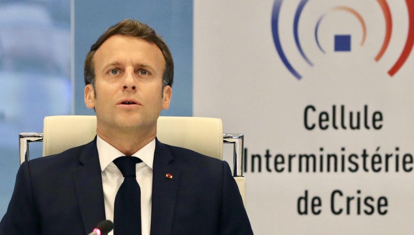 Prezydent Francji Emmanuel Macron (fot. PAP/ EPA/LUDOVIC MARIN / POOL MAXPPP)