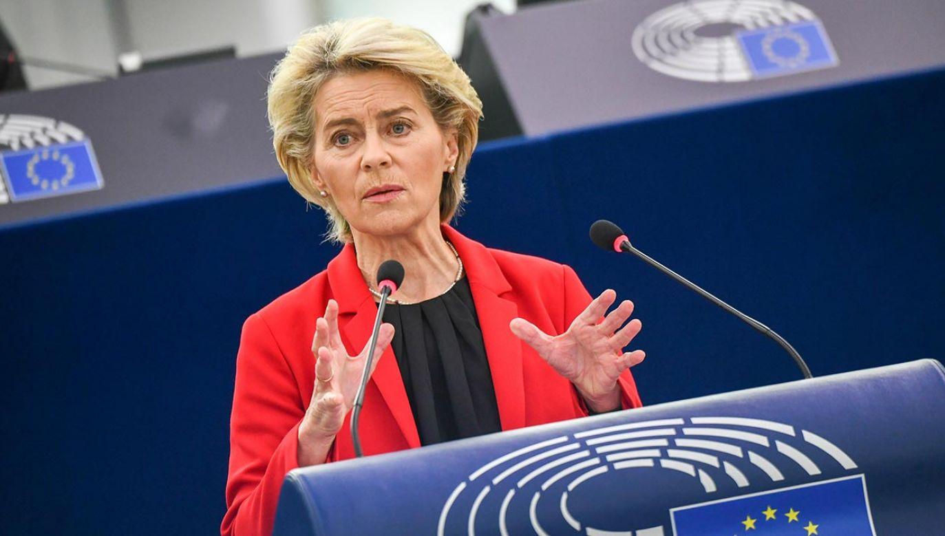 Ursula von der Leuen (fot. EU Commission / Pool/Anadolu Agency via Getty Images)