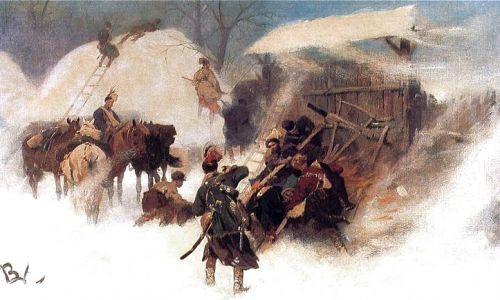 Obrona zaścianka przez konfederatów barskich, obraz Józefa Brandta