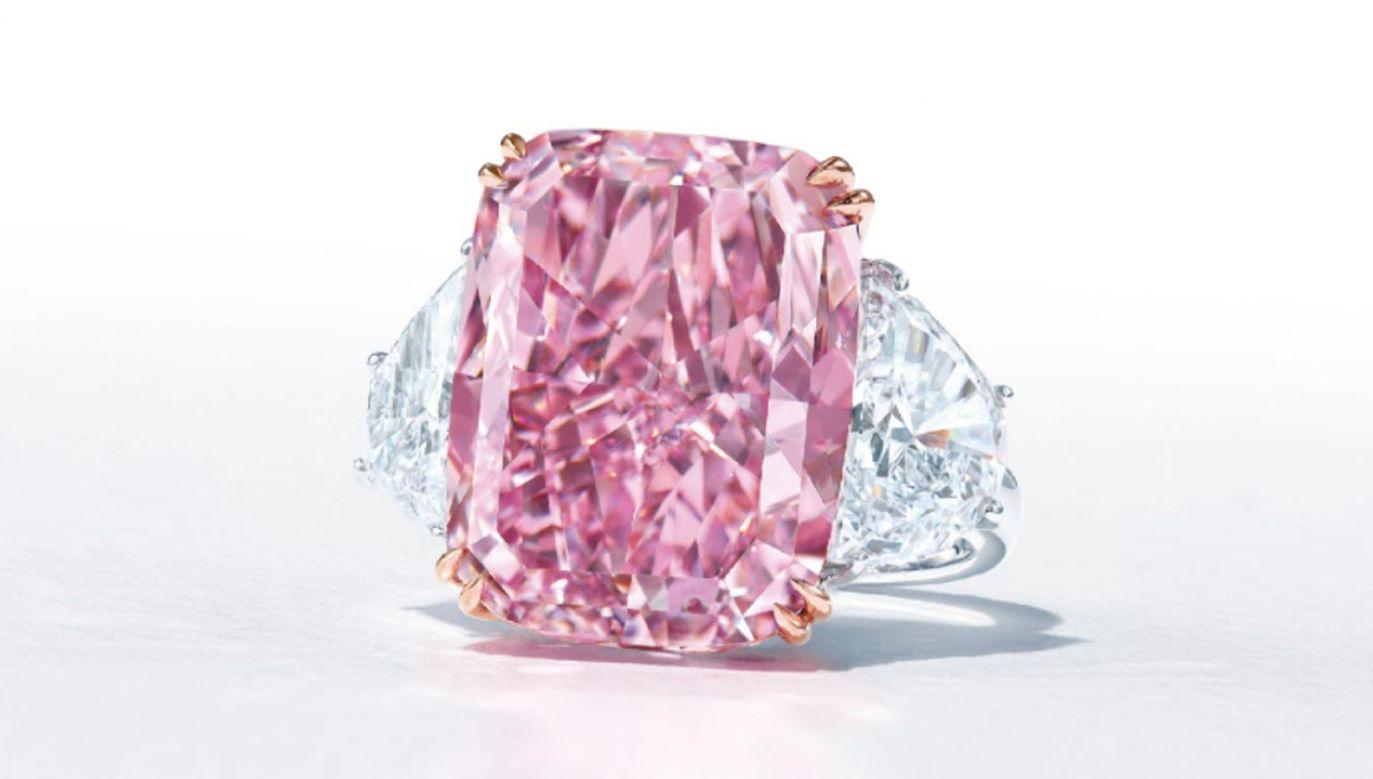 Sakura to jeden z największych i najrzadszych różowych diamentów(fot. Christie's)