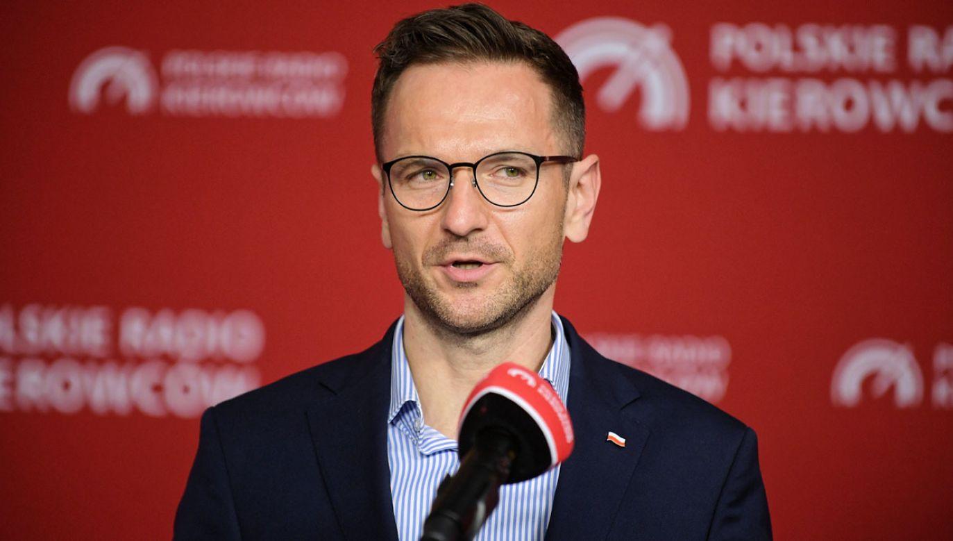 Sekretarz stanu w Ministerstwie Funduszy i Polityki Regionalnej Waldemar Buda (fot. PAP/M.Obara)