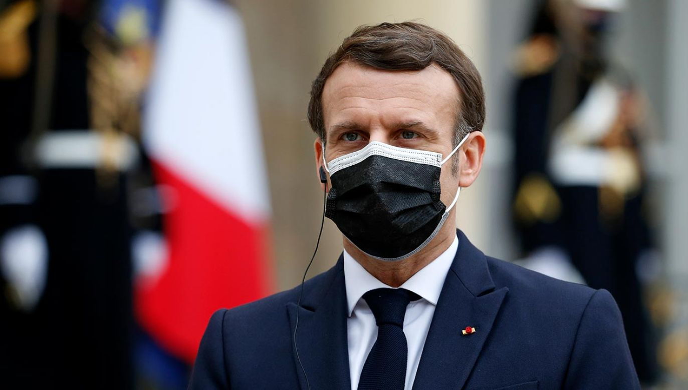 Prezydent Emmanuel Macron (fot. Chesnot/Getty Images)