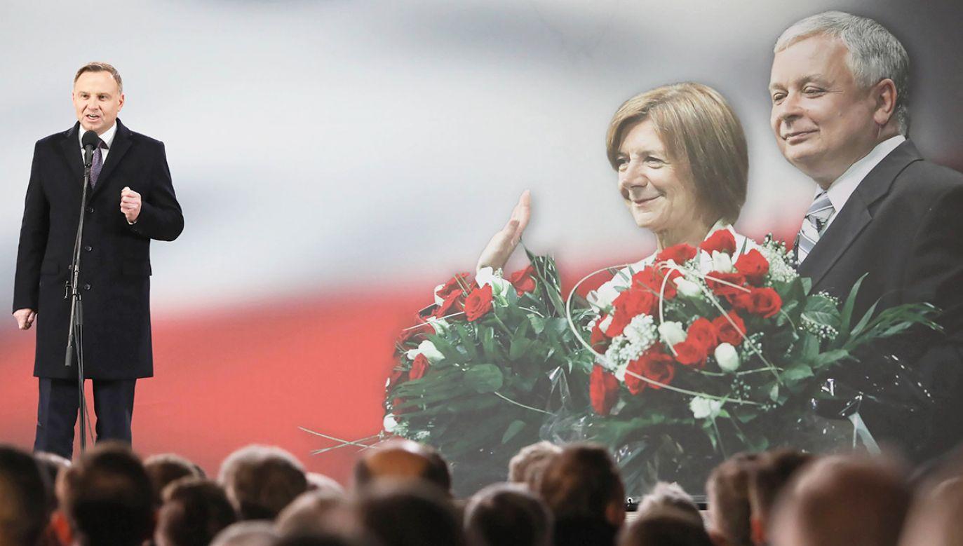 Chciał żebyśmy robili do Polski niestrudzenie jak najwięcej i staramy się to robić – mówił o prezydencie Lechu Kaczyńskim jego obecny następca, Andrzej Duda (fot. arch.PAP/Radek Pietruszka)