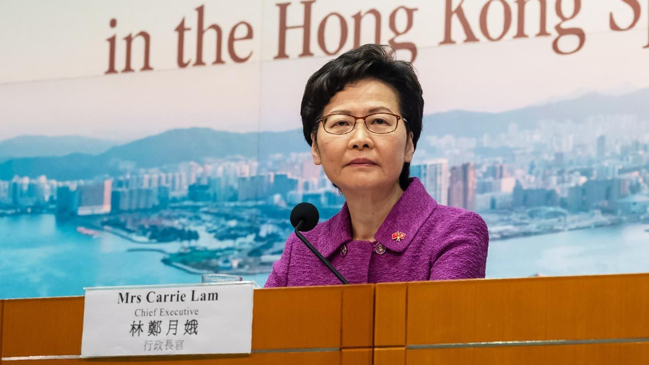 Carrie Lam, szefowa administracji Hongkongu (fot. Billy H.C. Kwok/Getty Images)