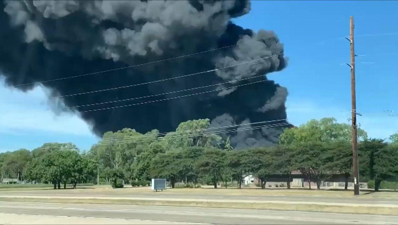 Pożar fabryki w USA (fot. EBU/Ryan Pearson)