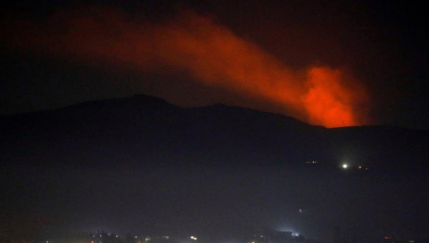 Celem ataku były m.in. wzgórza Tal al-Hara (fot. TT/Ofer Rot)