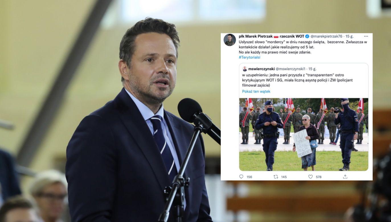 Prezydent Warszawy Rafał Trzaskowski (fot.  PAP/Wojciech Olkuśnik,twitter.com/marekpietrzak76)