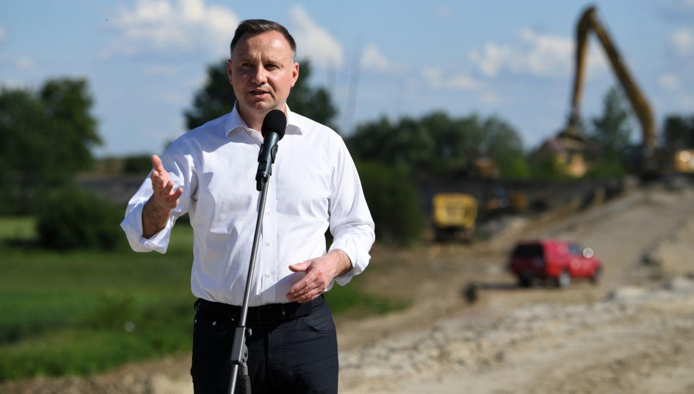 Prezydent Andrzej Duda odwiedził Wrzawy w woj. podkarpackim (fot. PAP/Darek Delmanowicz)