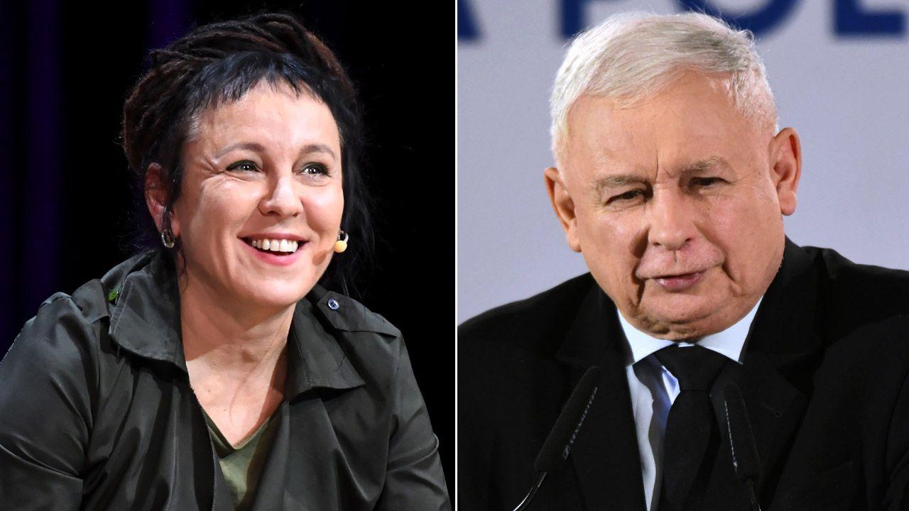 Ranking otwiera prezes PiS i Olga Tokarczuk  (fot. PAP/Jacek Bednarczyk/PAP/Darek Delmanowicz)
