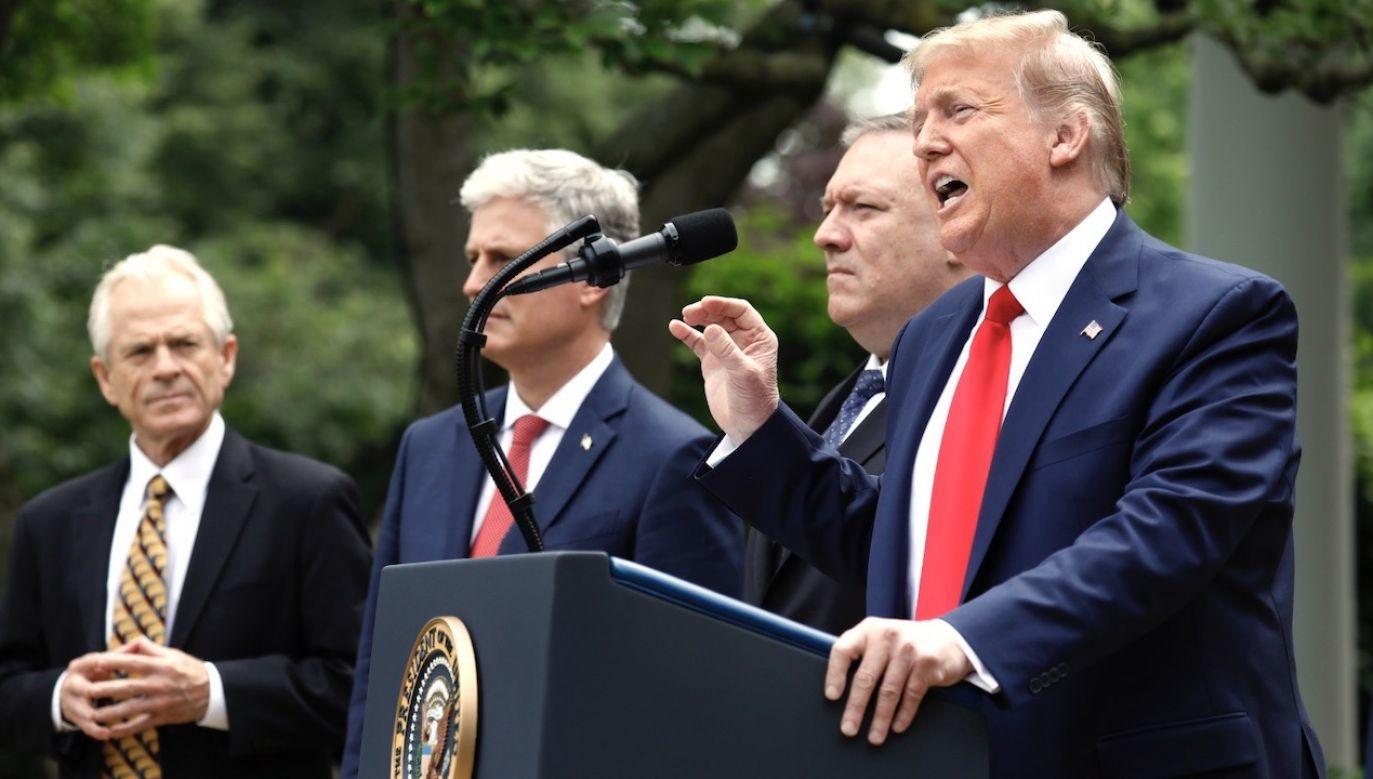 Donald Trump (fot. PAP/EPA/YURI GRIPAS)