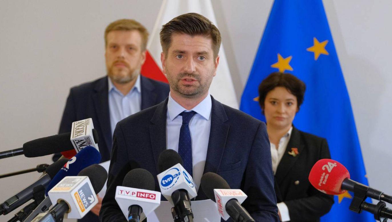 Krzysztof Śmiszek jest prywatnie partnerem lidera Wiosny (fot.PAP/Mateusz Marek)