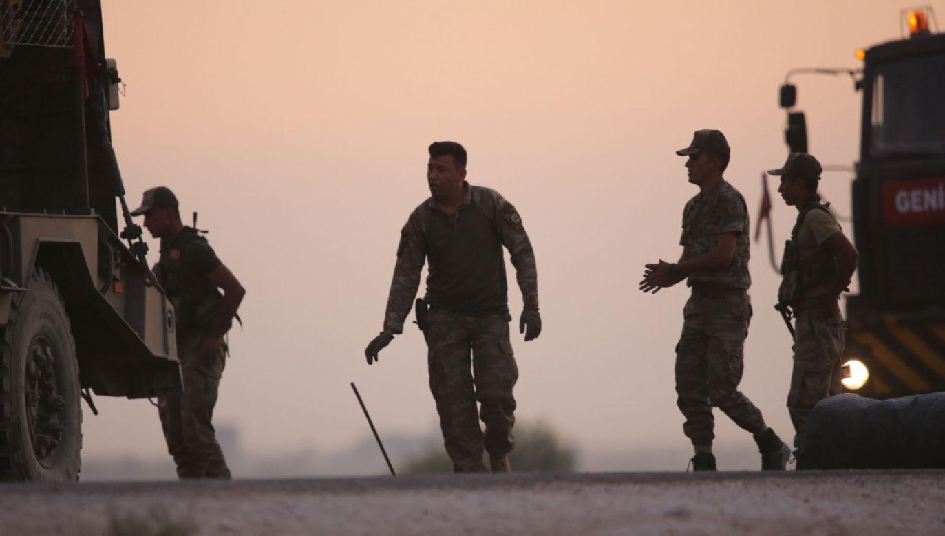 Jak informuje Ankara, do tej pory zginęło w Syrii czterech tureckich żołnierzy (fot. PAP/EPA/ STR)
