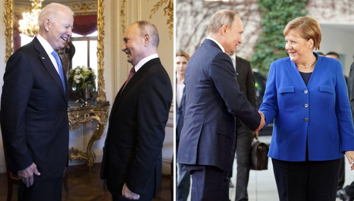 Prezydent USA Joe Biden, prezydent Federacji Rosyjskiej Władimir Putin i kanclerz Niemiec Angela Merkel (fot. S.Kugler/Bundesregierung/Getty Images)