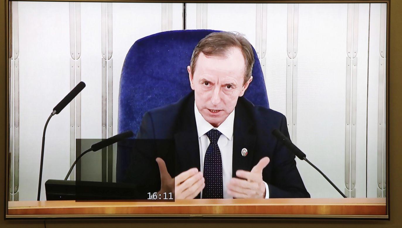 Senatorowie w razie potrzeby będą głosowali online (fot. PAP/Wojciech Olkuśnik)