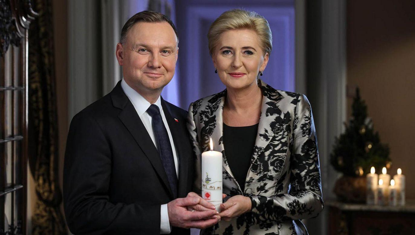 Para prezydencka zaprasza do włączenia się w Wigilijne Dzieło Pomocy Dzieciom (fot. Jakub Szymczuk/KPRP)