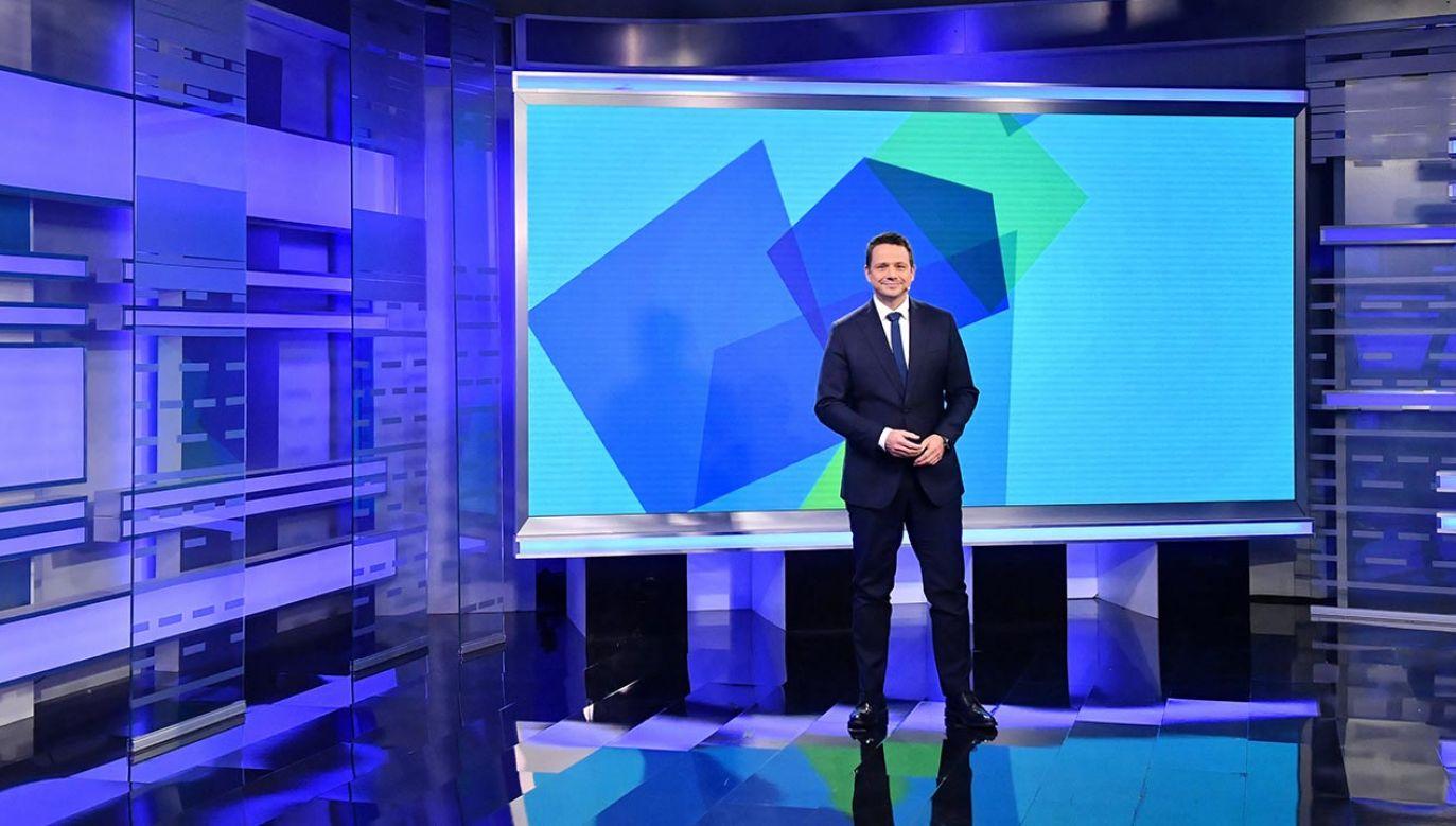 Ruch obywatelski Rafała Trzaskowskiego zadebiutował w sobotę w studiu telewizyjnym (fot. PAP/Radek Pietruszka)