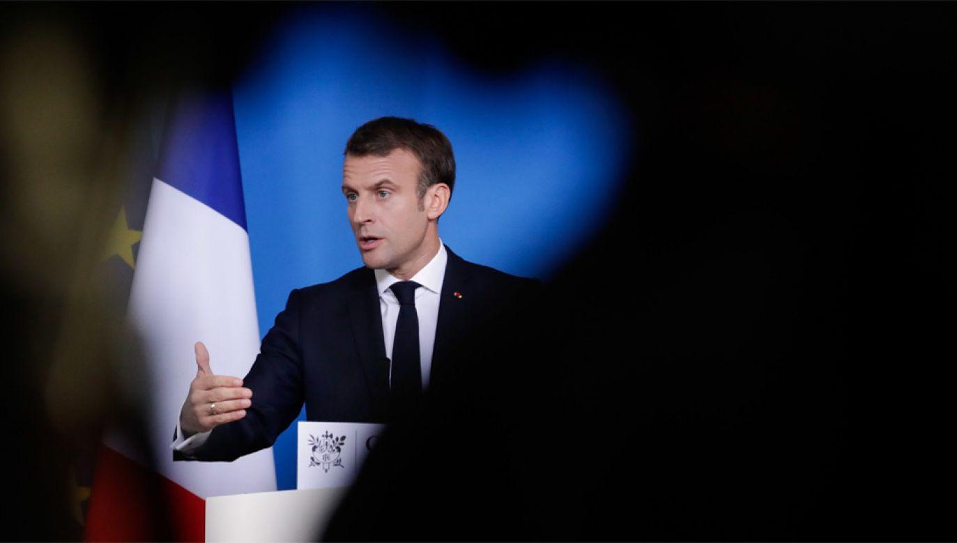 Emmanuel Macron rozbija jedność Europy (fot. PAP/EPA/STEPHANIE LECOCQ)