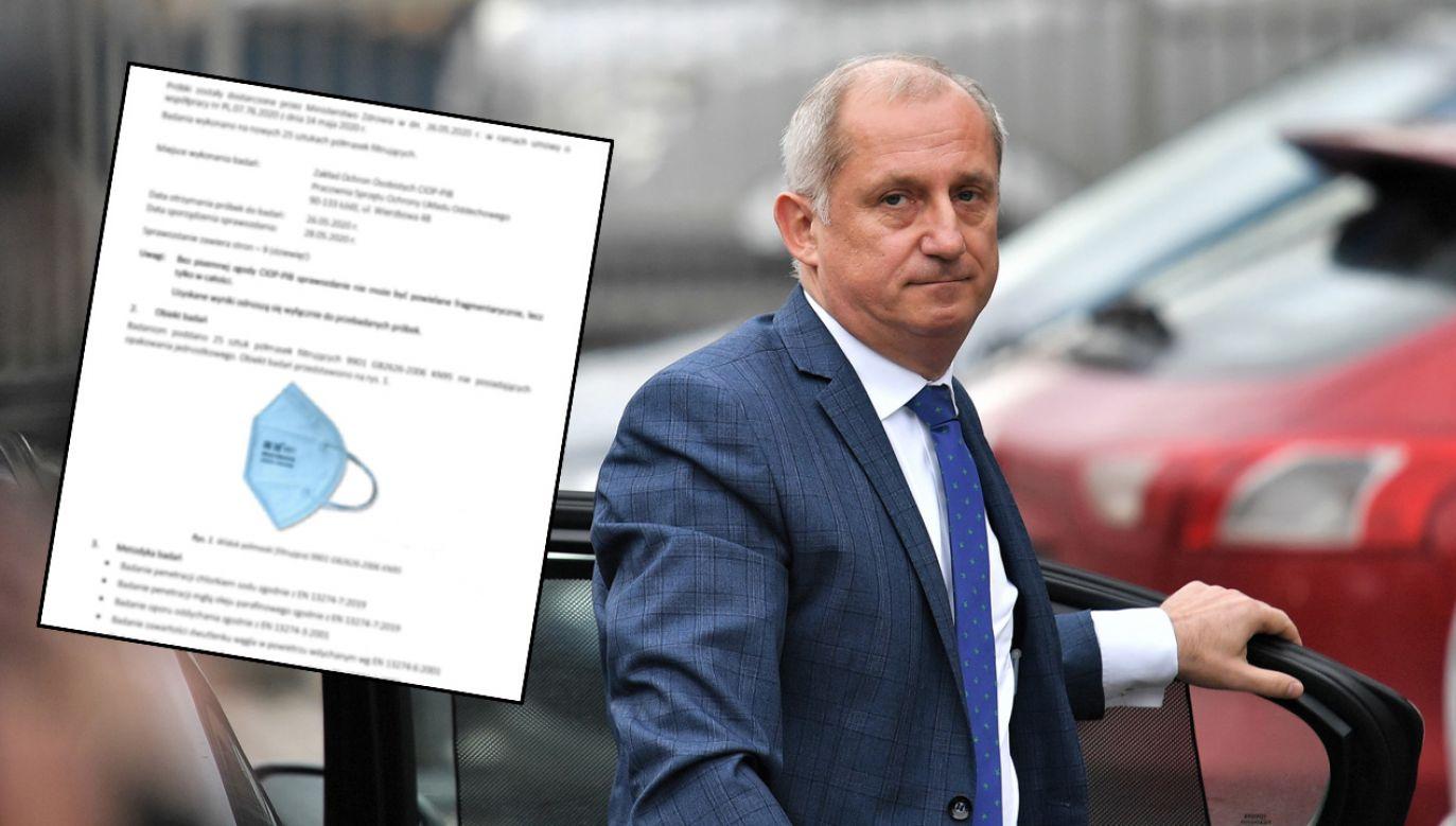 Neumann oskarżył rząd, że odrzucił intratną ofertę zakupu atestowanych maseczek (fot. arch. PAP/Jan Karwowski)