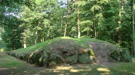 Jeden z grobowców megalitycznych w Parku Kulturowym Wietrzychowice (Fot. Archiwum Nadleśnictwa Koło)