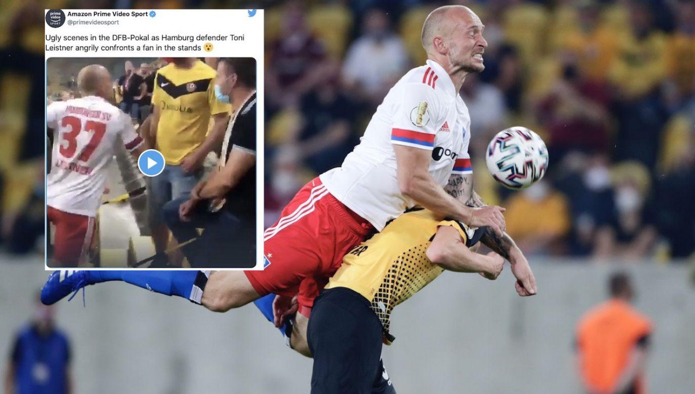 Dla Toniego Leistnera był to pierwszy mecz w barwach HSV Hamburg (fot. REUTERS/Hannibal Hanschke/tt/@primevideosport))